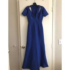 women u0027s blue bcbgmaxazria prom dress on poshmark