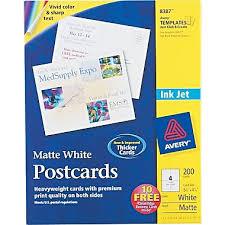 avery inkjet business cards staples