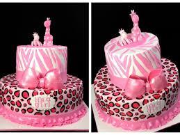 wild safari pink baby shower cake cakecentral com