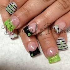 neon green u0026 black zebraz nail art photos nails nails nails