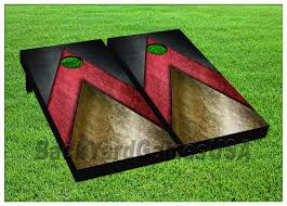 boards with bags red black gold bean bag game set