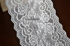 wide lace ribbon white lace ribbon scalloped edge 5 5 inch wide x 10 yards my