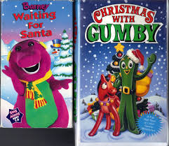 barney waiting for santa vhs 1997 u0026 christmas with gumby vhs