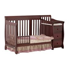 Crib Convertible To Toddler Bed by Portofino 4 In 1 Fixed Side Convertible Crib Changer By Stork