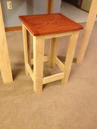 Modern Furniture Woodworking Plans by Ana White Build A Pub Table Height Stool Modern Design Free