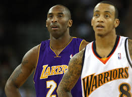 monta ellis and kobe bryant photos photos los angeles lakers v
