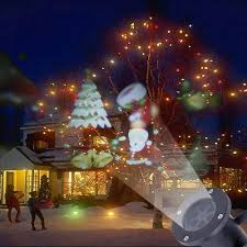 outdoor moving santa claus snow laser projector christmas outdoor