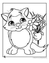 kittens flowers coloring pages coloring