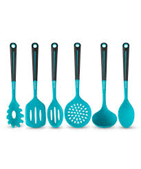 Kitchen Products by Amazon Com Art And Cook 6 Piece Silicone Utensil Set Blue