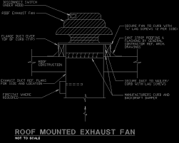 AutoCAD Detail roof exhaust fan dwg