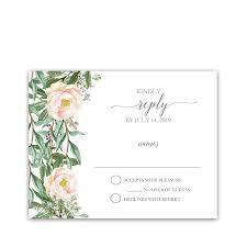 response card wedding response cards blush floral and greenery