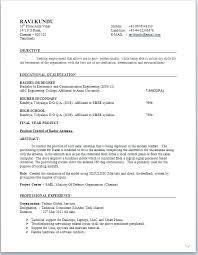 american format resume american standard resume sle format electronic engineer