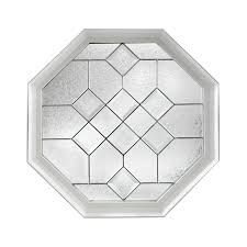 shop accent picture windows at lowes com hy lite decorative glass octagon new construction window rough opening 24 in