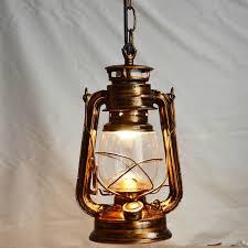 retro vintage lantern kerosene pendant l e27 lights loft