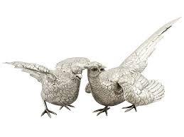 silver pheasant ornaments antique silverware for sale ac silver