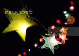 multi colour string lights star fairy lights bedroom home