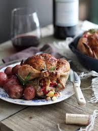 cranberry apple stuffed cornish hens