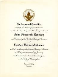 how to refuse an invitation invitation to the inauguration of president john f kennedy and
