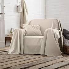 jeter de canape boutis plaid ou jeté de canapé uni en coton becquet parme vue 1