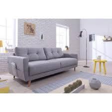 canapé droit 3 places bobochic oslo canapé 3 places 210x90x86cm gris clair 210cm x