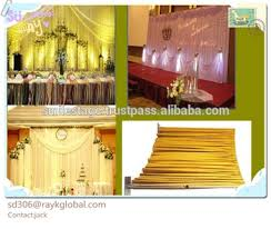 Event Drape Rental Chiffon Fabric For Drapery Wedding Portable Stage Curtain Stand
