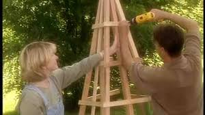 How To Build A Trellis by Video How To Build A Pyramid Shaped Trellis Martha Stewart