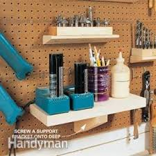 Peg Board Shelves by Easy Shelving Ideas Tips For Home Organization Family Handyman