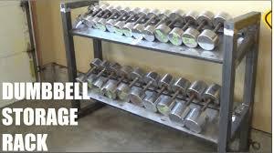 custom made dumbbell storage rack youtube