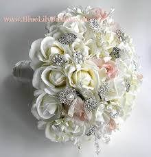 silk bridal bouquets silk flower bridal bouquets real touch brooch bridal bouquet