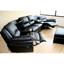 home theater recliner baxton studio sectional leather 4 seat theater lounger with