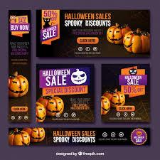 Halloween Sale Pack Of Halloween Sale Banners Vector Free Download