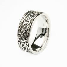 mens silver rings fallers rings fear silver celtic mens ring fallers jewelers