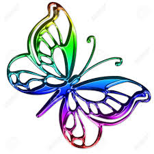 a pretty bright and colorful butterfly royalty free cliparts