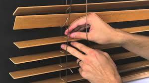 how to restring a horizontal wood blind youtube