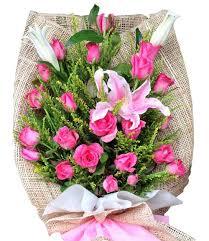 stargazer bouquet 24 pink roses stargazer bouquet flower delivery philippines