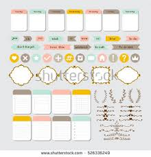 set birthday party design elements template stock vector 526336354