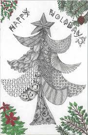 163 best zentangle christmas images on pinterest doodle art