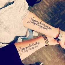 the 25 best matching quote tattoos ideas on
