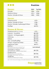 Hochsteckfrisurenen Preise by Preise Riepegerste Friseur