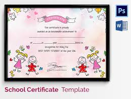 preschool certificates sle certificates for kids psd certificate diploma