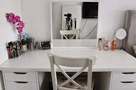 Small Corner Bedroom Vanity With Drawers Makeup Vanity Ikea Makeup Vanity Ideas Ikea And Dresser With