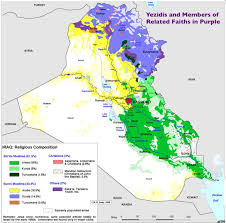 Middle East Religion Map by Geocurrents Editorial The Genocide Of The Yezidis Begins And The