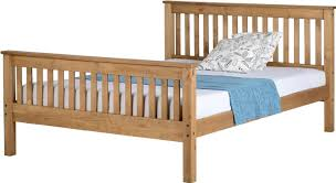 Solid Pine Bed Frame Martin Solid Pine Bed 4ft6 Or 5ft King With Mattress Choice