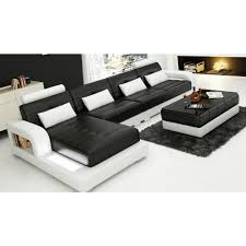 canap d angle de luxe canapé d angle design en cuir salerno l éclairages pop design fr