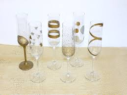 new years chagne glasses easy diy new year s painted chagne flutes painted