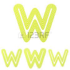 grey line letter w logo design set royalty free cliparts vectors