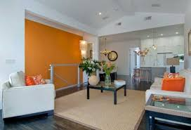 Orange Living Room Chairs by Orange Color Shades And Modern Interior Decorating Color Combinations