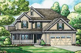 home plan with l shaped front porch 42287db architectural