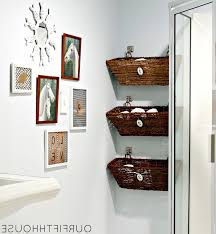 Creative Bathroom Storage Ideas by Creative Bathroom Storage With Basket Design For Sweet Look