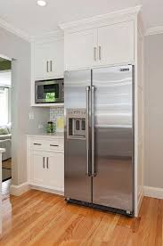 microwave kitchen cabinets 32 kitchen cabinets around refrigerator for more storage space